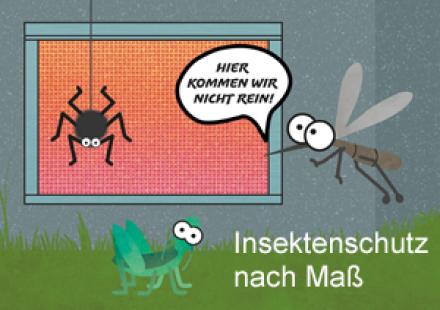 Insektenschutzsysteme für Türen, Fenster, Dachfenster und Kellerschächte